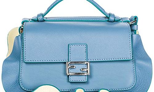 11b371d0afca Fendi Women s Fashion Show  Double Micro Baguette  Multi-Contrast Flutter  Trim Bag Eggplant + Blue